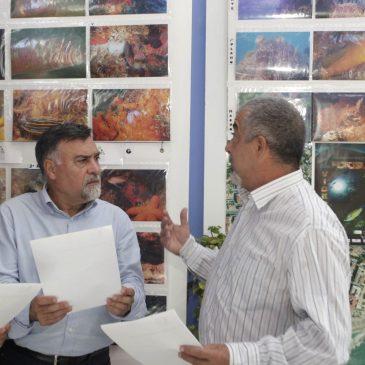 exposición del XII Concurso de Fotografía del Centro Oficial de Investigaciones Subacuáticas en la sede del Distrito Centro