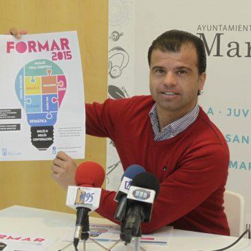 El Ayuntamiento abre el plazo de preinscripción de la octava edición del ciclo 'Formar 2015' con 1.047 plazas