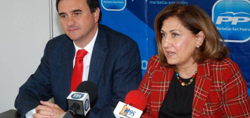 """El PP reprocha a Susana Díaz que """"solo haya venido a Marbella a pedir el voto y no a plantearar soluciones para los problemas que son competencia de la Junta"""""""