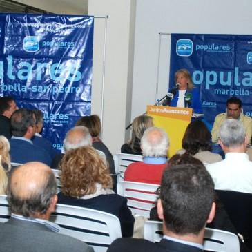 """Ángeles Muñoz subraya que la candidatura del PP para las elecciones municipales """"será integradora y con una amplísima representación de la sociedad"""""""