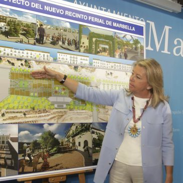 La alcaldesa anuncia que la Feria de Marbella se traslada este año a la zona norte de la ciudad y presenta el proyecto del nuevo recinto para 2016