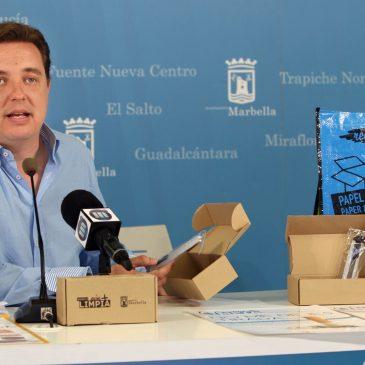 El Ayuntamiento emprende una campaña de concienciación para facilitar el reciclaje de cartón a comerciantes y vecinos