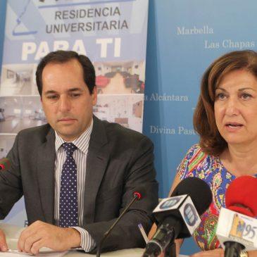 El Ayuntamiento apoya un año más la labor social del Grupo Alfil gracias al otorgamiento de 30 nuevas becas de alojamiento a universitarios de Marbella