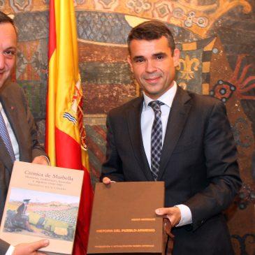 El alcalde ha recibido en el Ayuntamiento al embajador de Armenia en España