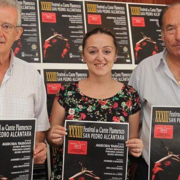 El XXXIII Festival de Cante Flamenco de San Pedro Alcántara se celebrará este sábado 1 de agosto con Aurora Vargas y Pansequito como cabezas de cartel