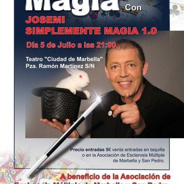 El Teatro Ciudad de Marbella acogerá este domingo el espectáculo 'Josemi: Simplemente Magia 1.0'