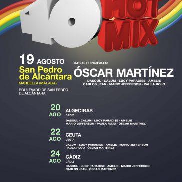 La gira musical 40 Hot Mix llega este miércoles al Bulevar de San Pedro con artistas como Carlos Jean, Mario Jefferson y Paula Rojo