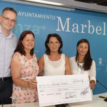La Velada organizada por la Asociación Francófonos de la Costa del Sol recauda 2.000 euros a beneficio de la Asociación Valores