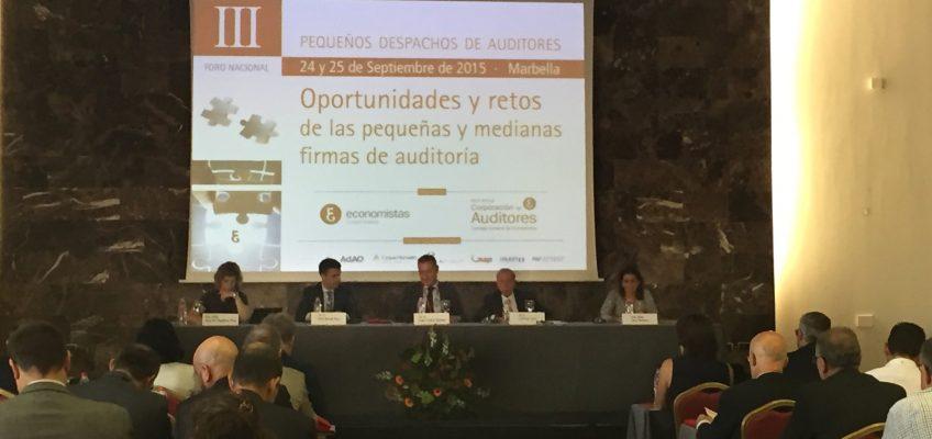 El alcalde asiste a la apertura del III Foro Nacional de Pequeños Despachos de Auditores