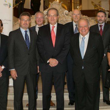 Los empresarios iberoamericanos rinden un homenaje al embajador de Colombia en España con motivo del fin de su misión