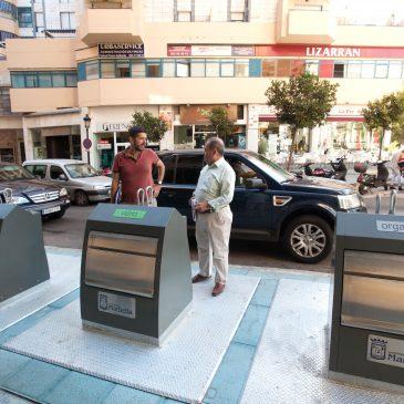 El Ayuntamiento abre los 13 nuevos grupos de islas ecológicas en Marbella y San Pedro Alcántara