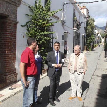 Marbella continúa con la renovación de infraestructuras y pavimento del Casco Antiguo con obras de mejora en las calles Lobata, Aduar y Rafina