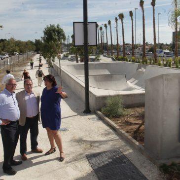 San Pedro Alcántara estrena un parque público de 'skate' de más de 3.400 metros cuadrados