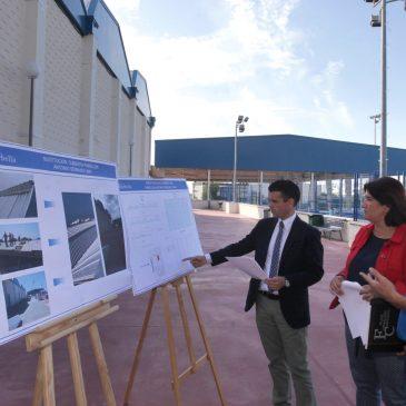 El Ayuntamiento soluciona los problemas de filtraciones del Pabellón Deportivo Antonio Serrano Lima con una nueva cubierta