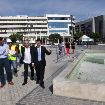 La remodelación de la Plaza Antonio Banderas de Puerto Banús estará lista para finales de año