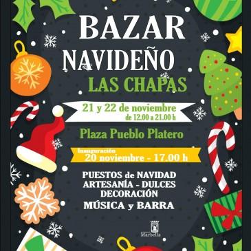 Las Chapas comienza a preparar la Navidad con un bazar este fin de semana