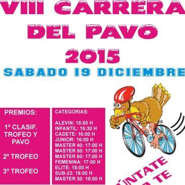 La tradicional Carrera Ciclista del Pavo celebrará su octava edición este sábado en la Avenida Ricardo Soriano