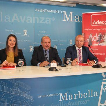 El Ayuntamiento pone a disposición de Adecco un espacio en el Palacio de Congresos para facilitar el empleo en Marbella en el sector de la hostelería