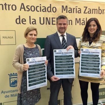 UNED Málaga organiza los III Cursos de Primavera con siete  seminarios formativos