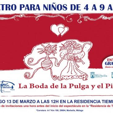 "La Gotera de Lazotea pone en escena este domingo en Las Chapas la obra ""La boda de la pulga y el piojo"""