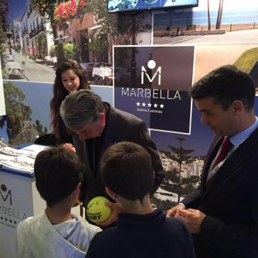 """El alcalde destaca la promoción de Marbella en """"el gran escaparate mundial"""" de la Mutua Madrid Open 2016"""