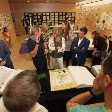 El alcalde y la consejera de Educación respaldan la tercera edición del proyecto 'Artistas en el aula' del colegio Miguel de Cervantes