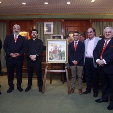 El Ayuntamiento acoge la presentación del pregonero y del cartel de la Hermandad de los Romeros de San Bernabé