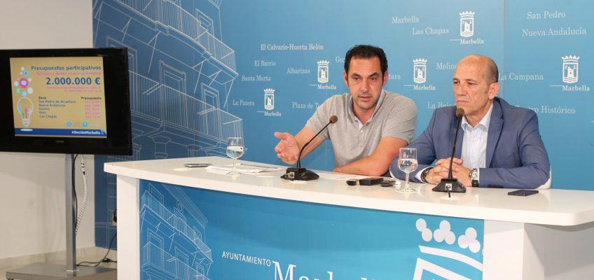 El Ayuntamiento inicia el proceso de los Presupuestos Participativos que permitirá que la ciudadanía decida el destino de dos millones de euros