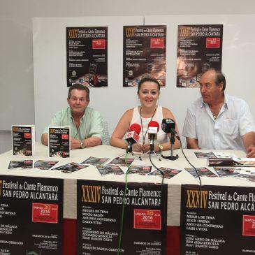 El XXXIV Festival de Cante de San Pedro Alcántara se celebrará el próximo sábado 30 de julio con Miguel de Tena y Rocío Bazán como cabezas de cartel