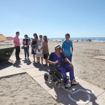 La delegación de Sostenibilidad acondiciona la zona de moragas de El Cable para hacerla accesible a las personas con movilidad reducida