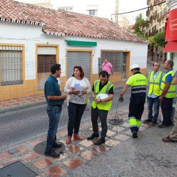 Iniciadas las obras de la calle Huerta Chica con el objetivo de sustituir la bóveda actual del colector urbano de Río Huelo y mejorar la red de saneamiento