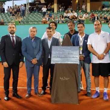 El alcalde de Marbella, José Bernal, asistió ayer a la final de la Senior Masters Cup