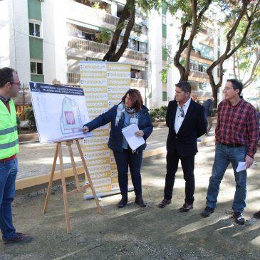El Ayuntamiento acomete la ampliación de las pistas de petanca de la plaza Manuel de Falla y el acondicionamiento del entorno