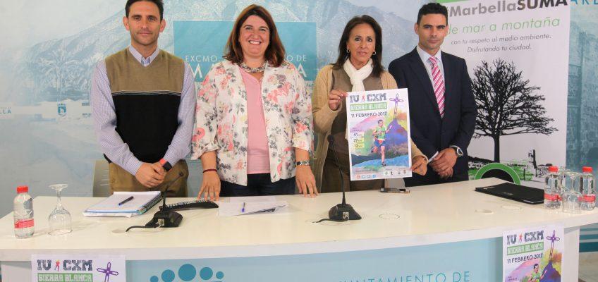 La IV Carrera por Montaña Sierra Blanca se celebrará el 11 de febrero de 2017 con tres recorridos y discurrirá por los términos municipales de Marbella, Ojén y Monda