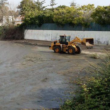 La Tenencia de San Pedro Alcántara acomete los trabajos de limpieza del lago del Salto del Agua