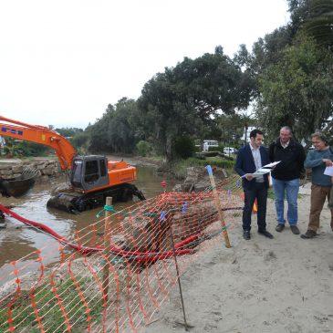 El Ayuntamiento impulsa trabajos de acondicionamiento del Arroyo Real Zaragoza en coordinación con la Junta y la Demarcación de Costas