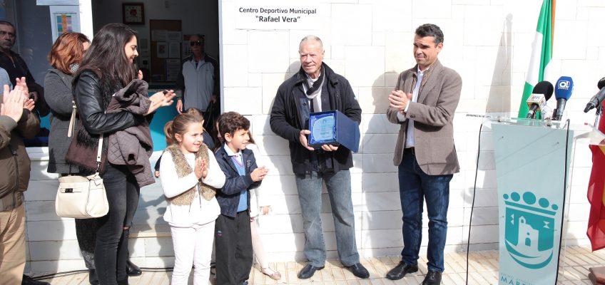 El Ayuntamiento reconoce la trayectoria deportiva y personal de Rafael Vera concediendo su nombre al Centro Deportivo Municipal