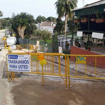 La Tenencia de Alcaldía de Las Chapas impulsa la renovación de las redes de saneamiento y pluviales de la calle Alcornoque