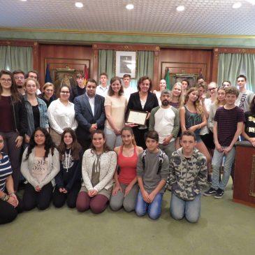 Recepción en el Ayuntamiento a alumnos del IES Sierra Blanca y del centro Albertus Magnus de Colonia que se encuentran de intercambio