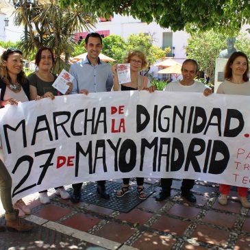 """IZQUIERDA UNIDA SOLICITARÁ AL PLENO MUNICIPAL QUE HAGA SUYO El LEMA DE LAS MARCHAS DE LA DIGNIDAD """"PAN, TRABAJO, TECHO E IGUALDAD"""""""