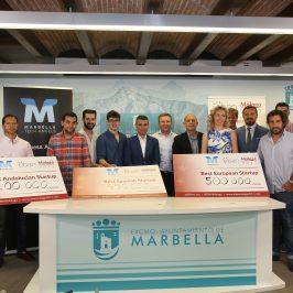 El alcalde destaca el gran nivel de los proyectos ganadores de los premios 'Marbella Tech Angels'