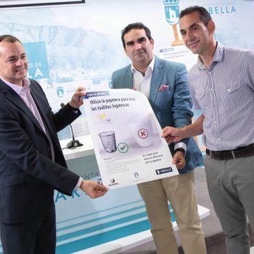 Ayuntamiento, Acosol e Hidralia lanzan una campaña de concienciación para el uso responsable de las toallitas higiénicas