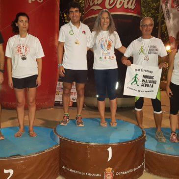 Cinco integrantes del Club Escalada Marbella se suben al podio en la Copa Andaluza de Marcha Nórdica tras la cuarta y última prueba celebrada en Granada este fin de semana