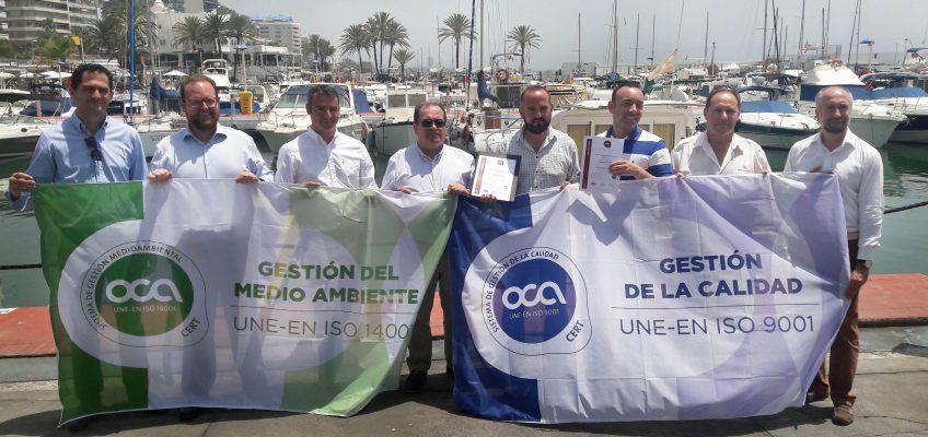 El Puerto Deportivo renueva las certificaciones de gestión de calidad y el compromiso medioambiental