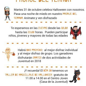 Ojén celebra la noche de Halloween con un Pasaje del Terror en las Cuevas del pueblo, un concurso de disfraces y un taller de automaquillaje   Las actividades serán gratuitas y están destinadas a toda la familia