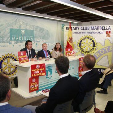 El Ayuntamiento respalda al Rotary Club en su lucha para la erradicación de la polio