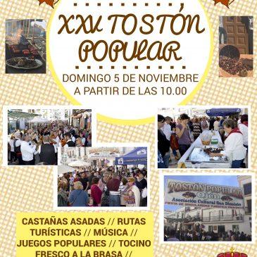 El Tostón Popular de Ojén, que se celebra el domingo 5 de noviembre, cumple este año su 25 aniversario