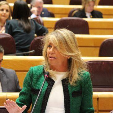 Ángeles Muñoz pide al Gobierno la estabilización de las playas de Marbella y San Pedro de Alcántara