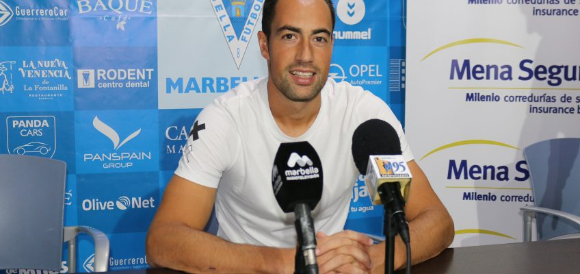 """Lolo Pavón: """"Tenemos que pensar en seguir sumando y tratar de sacar los puntos en Melilla"""" Marbella"""