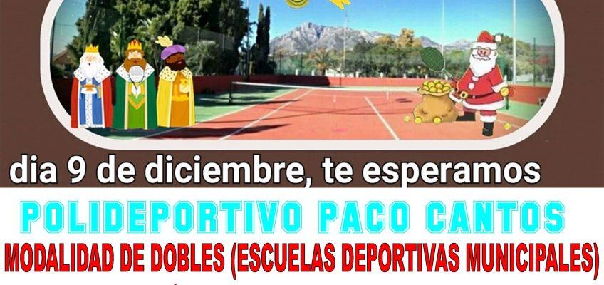 El Polideportivo Paco Cantos acogerá el 9 de diciembre el primer Torneo de Tenis Solidario de las Escuelas Deportivas Municipales